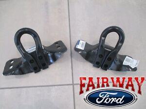 17 thru 20 Super Duty F-250 F-350 F-450 F-550 OEM Ford Black Tow Hook Set PAIR