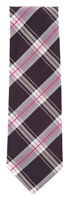 "New Finamore Napoli Burgundy Red Plaid Tie - 3.25"" x 56"" - (TIEWNPX240)"