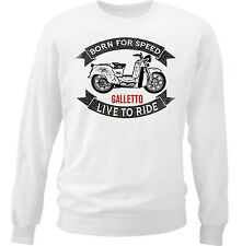 MOTO GUZZI GALLETTO - COTTON WHITE SWEATSHIRT ALL SIZES IN STOCK