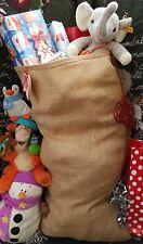 2 high quality Hessian Sacks for personalising  for Santa sack 53cm x 82cm