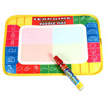 Hot!!! Drawing Water Pen Painting Magic Doodle Aquadoodle Mat Board Kids Toy
