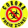 Corona Aufkleber FREIE ZONE -  Sticker Tür, Haus, Auto, Gastatätte Willkommen