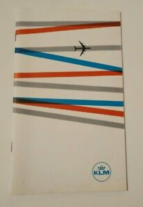 Vintage KLM Royal Dutch Airlines Advertising Brochure Route Map Inflight Guest