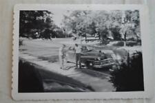 Vintage Car Photo Men w/ 1946 1947 1948 Chrysler 863