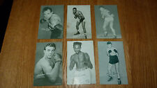 *Reduced* 6 Assorted Vintage Boxing Exhibit Cards Godoy Burton Roach Dade Brion