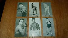 * Riduzione * 6 Assortiti Vintage Boxing Il reperto carte Godoy Burton Roach Dade Brion