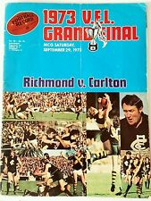 VFL Football Record 1973 GRAND FINAL Premiers RICHMOND TIGERS Souvenir Program