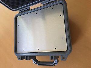 Frontplatte für Peli Case 1200 u. 1300 Dibond mit Lochbild, 2. Wahl