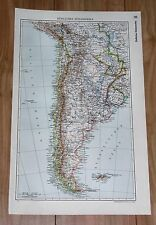 1935 ORIGINAL VINTAGE MAP OF ARGENTINA BUENOS AIRES CHILE / SOUTH AMERICA