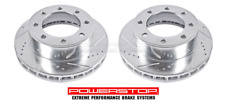 Set Front Disc Brake Rotors Extreme Performance Drilled Slotted Vented FORD 4WD