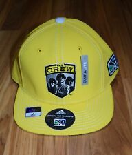 New Columbus Crew Hat Adidas Climalite L/XL Yellow Embroidered Player Cap MLS