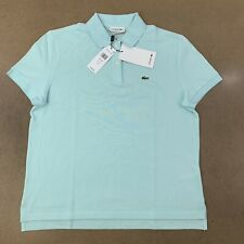 Lacoste Men's Size 42 (Large) Regular Fit Pale Blue Short Sleeve Polo Shirt NWT