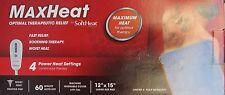 MAXHEAT By SoftHeat Optimal Therapeutic Relief Heating Pad~4 Power Heat Settings