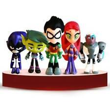 6 Pcs Teen Titans Go Robin Action Figure Set Kids Toy Gift Beast Boy Robin Raven