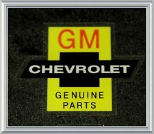 Chevrolet bowtie Genuine Parts Chevy decal GM RED Reg n/ nos