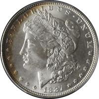 1887-P Morgan Silver Dollar PCGS MS65 Blazing White Nice Strike