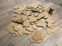 HA2 XXL Clearance Wholesale Joblot Laser Cut Wooden MDF Love Heart Craft Shapes