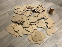 Wooden Love Hearts Shape Embellishment Craft Blank Wedding Decor mdf - 4,6mm HA2
