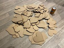 XXL HUGE Wooden MDF Love Hearts blank craft shapes tags embellishments toppers