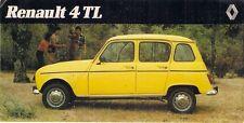 RENAULT 4 TL Estate 1982 mercato spagnolo brochure con piega di vendita