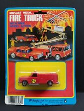 1981 Imperial Toy Fire Truck w/Free Wheel Action F/D Diecast Metal HK