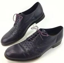 PAUL SMITH Designer Shoes Size 11 Purple Leather Lace Up Oxfords Made In Italy
