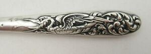 Fabulous Dragon Handle Button Hook Sterling Silver Victorian Art Nouveau Antique