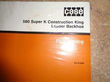 CASE 580 SUPER K CONSTRUCTION KING LOADER BACKHOE PARTS CATALOG BUR 8-6950