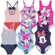 Disney Minnie Mouse Niña Traje de Baño Natación one piece Bañador 2-8 Años