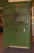 Antique Southern Pie Safe Paneled Punched Tin in Original Paint.
