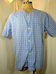 BROOKS BROTHERS Short Sleeve Knee Length Pajama Shirt Size M