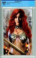 Red Sonja #19 Comics Elite Piper Rudich Virgin Exclusive - CBCS 9.9!