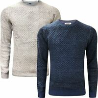 New Mens Marks & Spencer Fisherman Cable Knit Jumper M&S Crew Neck Sweater