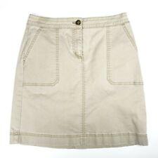 Boden Beige Tan Khaki Cotton Blend Knee Length Panel Skirt Sz 4