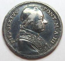 - VATICAN - Pape PIE VI - 1/2 Scudo - 1777 -