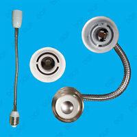 E27 to E14 300mm Flexible Lamp Holder, Orientational Light Bulb Extension Socket