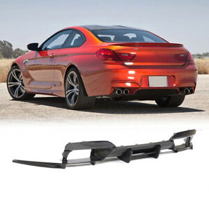Carbon Fiber Rear Bumper Diffuser Lip Splitters For BMW F06 F12 F13 M6 13-19