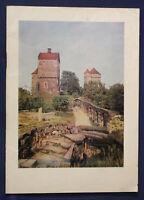 Original Prospekt Burg Stolpen um 1930 Ortskunde Sachsen Saxonica Geschichte sf