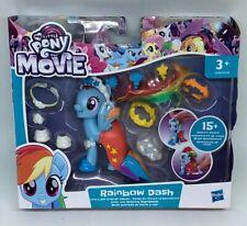 My Little Pony The Movie Rainbow Dash Land & Sea Snap On Fashion Figure Toy NEW