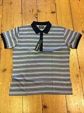 Remus Uomo Pima Cotton Polo/Navy & Blue - Medium