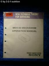 Sony OPERAZIONE Manual MDX 60 Mechanism (#0734)