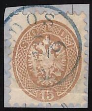 LEVANTE AUSTRIACO 1864 - 15 s. n.45L TENEDOS p. 11 € 1.075