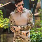 Men Tactical Combat Airsoft Camouflage Frog Suit Shirt Military Uniform Outdoor