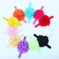 12吃Cute Girl Baby Toddler Infant Flower Headband Hair Bow Band Accessories