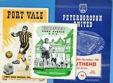 More details for season 1961/62  third  division.24 programmes.-one for each club.  g/vg