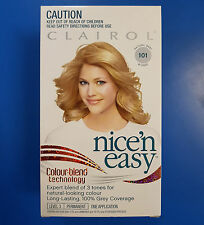 Clairol Nice & Easy Natural Baby 101 Blonde Colour blend 3 tones hair color