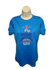 2015 Brooks Rock n Roll Philadelphia Half Marathon Womens Medium Blue Jersey