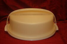 "vintage TUPPERWARE #719 #720 #721  Round 11"" Cupcake Pie Taker with Handle SHEER"