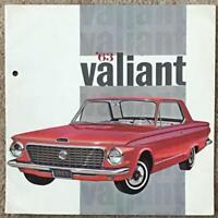 CHRYSLER VALIANT Canadian Car Sales Brochure 1963 #V631E
