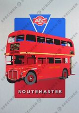 Routemaster bus NEW signed limited edition screen print on metal board A3 size
